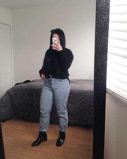 Black sweater w/side slits