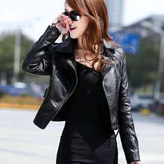 Ready stock Women PU Leather Jacket