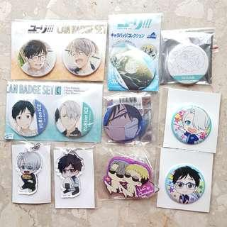 Clearance - Yuri on Ice assorted merch part 2