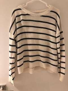 Stripe basic sweater from Nordstrom