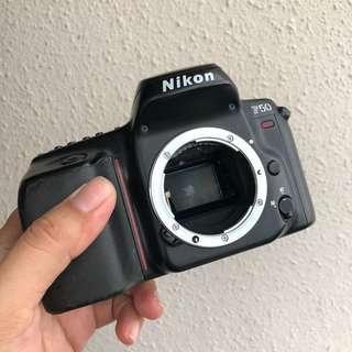 Nikon F50 film camera