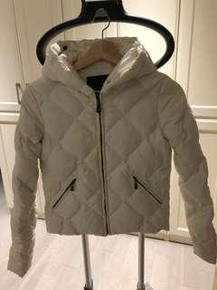 White (creme) Puffer Down Jacket fits S
