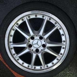 18' Original O.Z Rims With Tyres