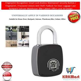 Fingerprint Recognition Smart Lock Keyless Waterproof Security Button / Fingerprint / Password