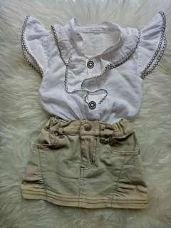 Baju set untuk anak perempuan