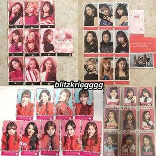[PO] Twice Japan Album Punched/Unpunched Member Photocard