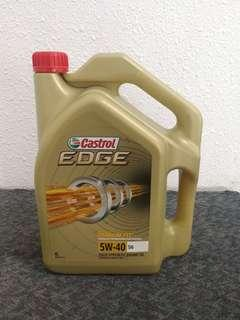 Castrol Edge Fully Synthetic Engine Oil Boosted with Titanium  (5W-40 sn)