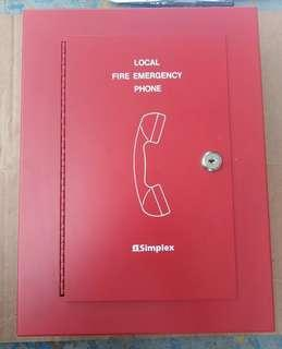 Fireman's Telephone in locked Cabinet, Surface-mount