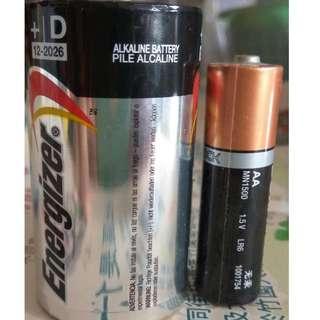勁量鹼性電芯 D size1號電池 煤氣爐 熱水器 電筒