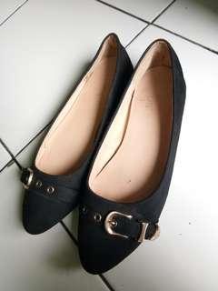 elips flat shoes black