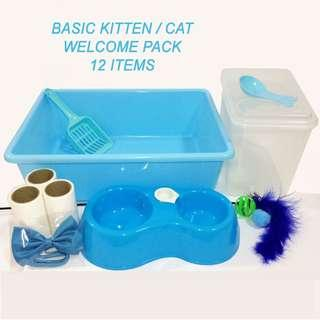 Cat / Kitten Accessories / Welcome pack / starter kit (ref: 2 tier/ 3 tier/4 tier/bowl/litter box/food container/lint rollers)