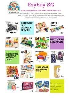 Educational Toys and Pretend Play toys