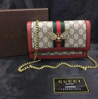 Gucci Chain Butterfly Sling