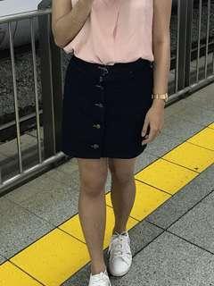 Button Skirt Jeans