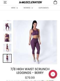 Muscle Nation Scrunch Bum Tights