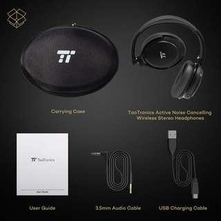 (BNIB) TaoTronics Active Noise Cancelling Bluetooth Headphones with 25 hour playtime, Foldable Earphones with Powerful Bass (Dual 40 mm Drivers, CVC 6.0 Noise Cancelling Built In Mic - TT-BH22) (Brand New Boxed)