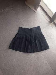 Black Pleated Skirt #cny888