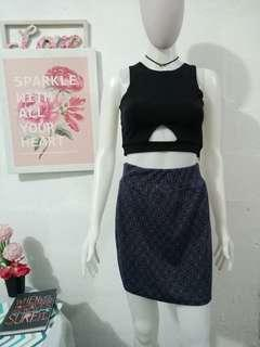 Navy Blue Skirt (Top not included)