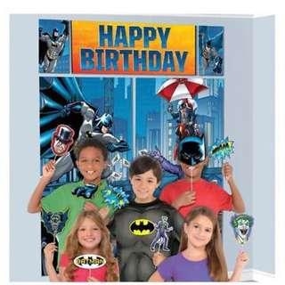 Licensed Superheroes Batman party supplies - party banner / scene setter / birthday banner / backdrop/ party deco