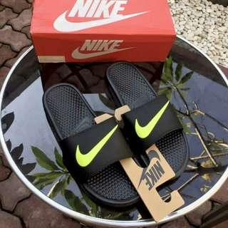 Sandal nike benassi green black original