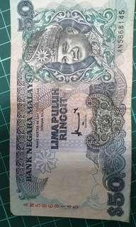 Malaysia old note RM 50