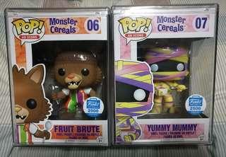 Monster Cereals Ad Icon Fruit Brute Yummy Mummy Funko Pop Set