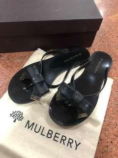 Mulberry Jelly Sandals Flat