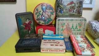Lot sale of vintage tins