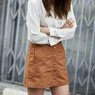 H&M Brown Suede Skirt