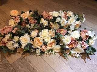 結婚花球 花排
