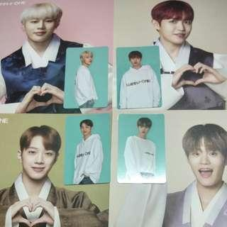 wanna one season greeting (greeting card + pc)