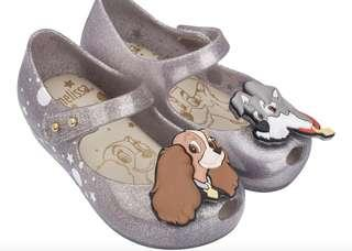 Mini Melissa Shoes the Lady and Tramp silver