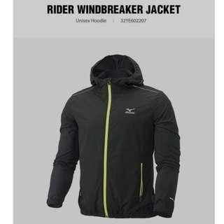 mizuno windbreaker running hoodie jacket new (size M)