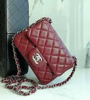 Authentic Chanel Classic Mini Square