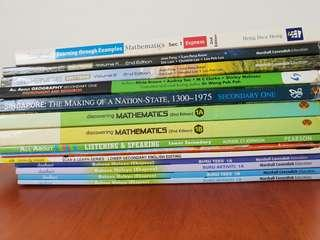 Free to quote all Sec 1 Textbooks and assessment