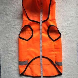 Puppy Clothes with Hood (Neon Orange)