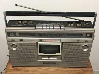 Vintage National Panasonic Stereo Radio Cassette Recorder