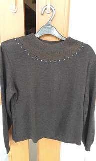 Preloved glitter black top