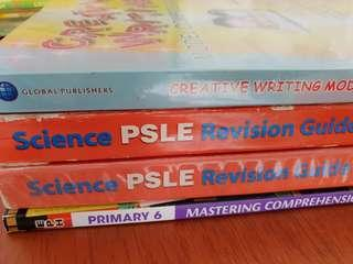 Free to quote p6 PSLE guide handbook. Science, composition. Free assessment bk