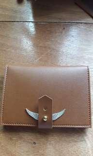 Leather Passport Holder Golden Snitch inspired