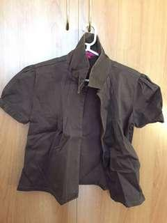 Authentic Kids Of Bayo Brown Blazer. Fits XS to S and Petite ladies