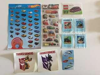 Stickers Hot Wheels Tomica Cars Transformers Thomas 貼紙