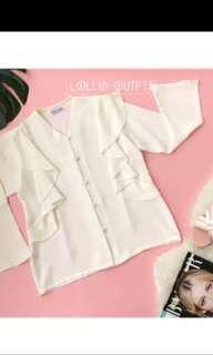 White blouse lolloutfit