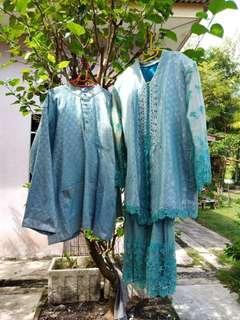 (OFFER)  Busana Pengantin Songket Mampu Milik (Battery charged blue)
