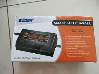 Motorcycle batter smart fast charger