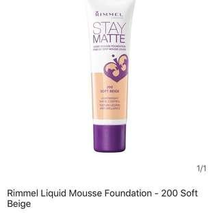 Rimmel Stay Matte Foundation inc. postage