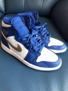 Nike Air Jordan 1 Retro High Gold Metal US 9.5