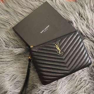 Authentic Saint Laurent black leather purse