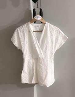 $15 SALE // The editor market crotchet TOP in white