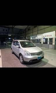 自售 台中 日產Livina 2012年 1.6 銀色 有恆溫 有霧燈